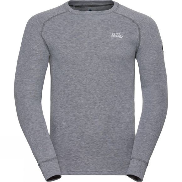 Odlo Mens Adam Long-Sleeve Base Layer Top Grey Melange