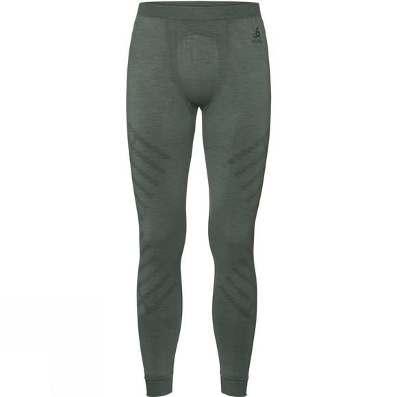 Odlo Mens Natural + Kinship Long Pant Agave Green Melange