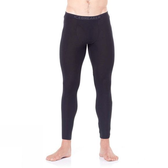 Icebreaker Mens 175 Everyday Leggings with Fly  Black