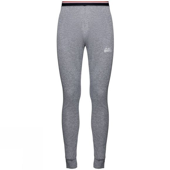 Odlo Mens Active Warm Originals Base Layer Pants Grey Melange