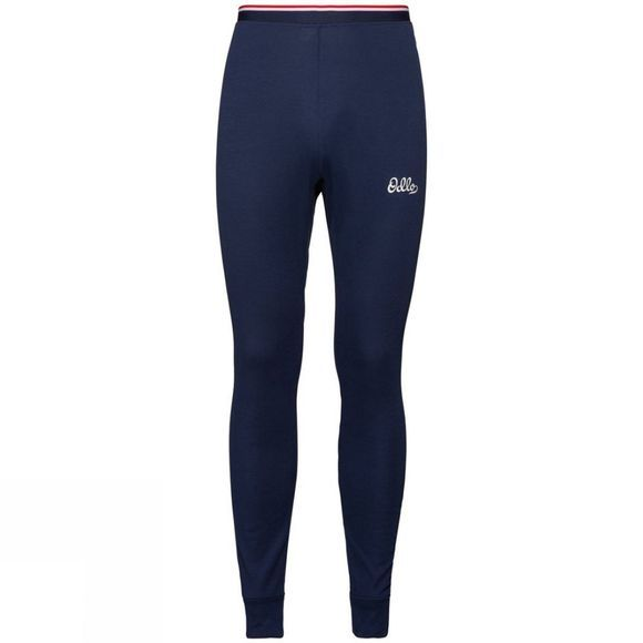 Odlo Mens Active Warm Originals Base Layer Pants Diving Navy
