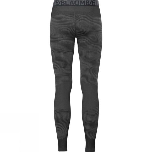 Odlo Mens Blackcomb Base Layer Pants Black - Odlo Concrete Grey - Silver