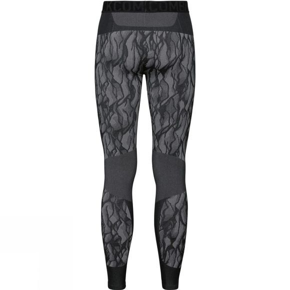 Odlo Mens Blackcomb Base Layer Pants Black - Odlo Steel Grey - Silver