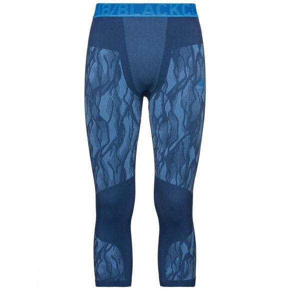 Odlo Mens Blackcomb 3/4 Base Layer Pants Estate Blue - Directoire Blue - Directoire Blue