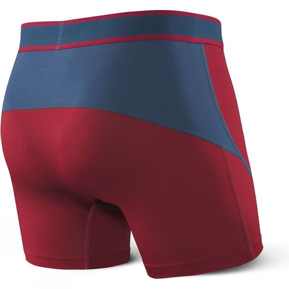 Saxx Mens Kinetic Boxers Deep Red/ Blue