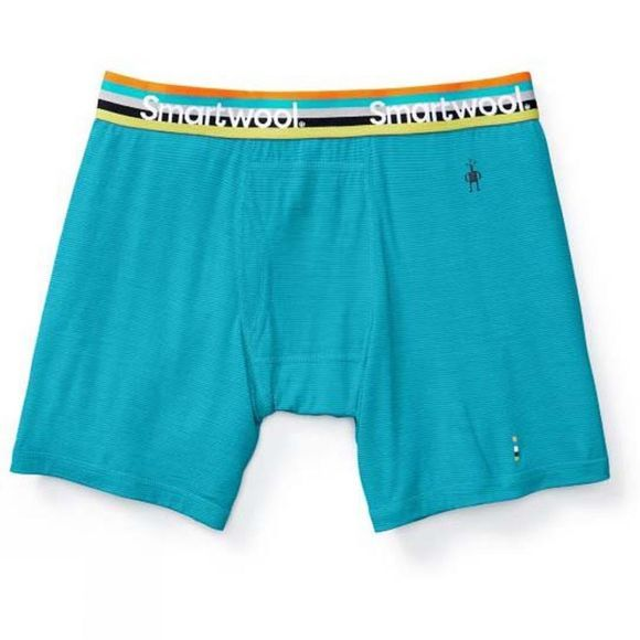 SmartWool Mens Merino 150 Pattern Boxer Brief Sea Blue