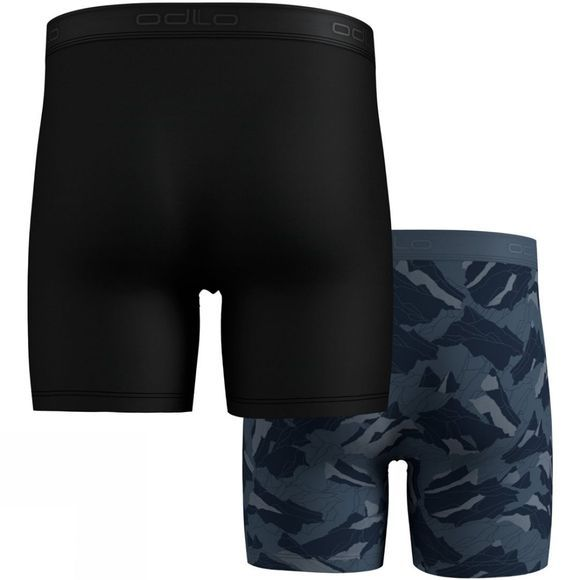 Odlo Mens Active Everyday Boxers 2-Pack Bering Sea - Mountain Camo AOP FW19 - Black