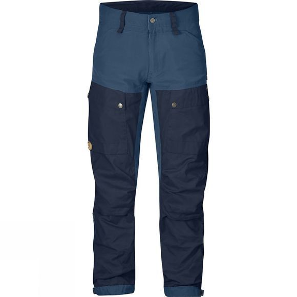 Fjallraven Mens Keb Trousers Dark Navy/Uncle Blue