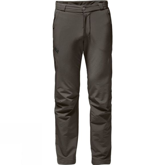 Jack Wolfskin Mens Activate Thermic Pants Olive Brown