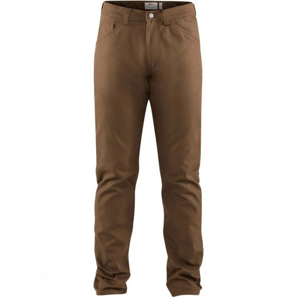 Fjallraven Mens Greenland Canvas Jeans Dark Sand