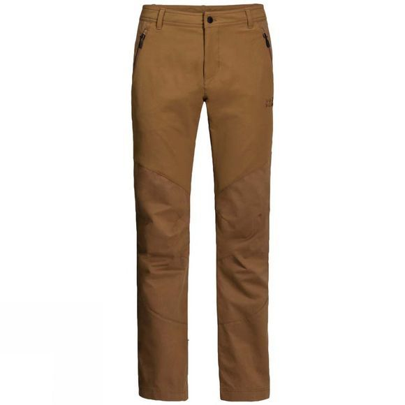 Jack Wolfskin Mens Drake Flex Pants Bark Brown