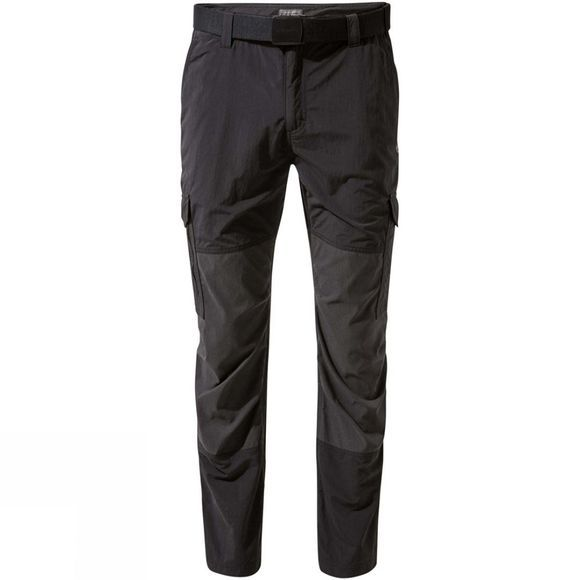 Craghoppers Mens NosiLife Pro Adventure Trousers Black / Black Pepper