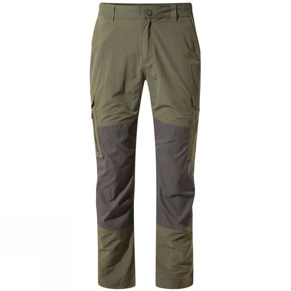 Craghoppers Mens NosiLife Pro Adventure Trousers Mid Khaki / Black Pepper