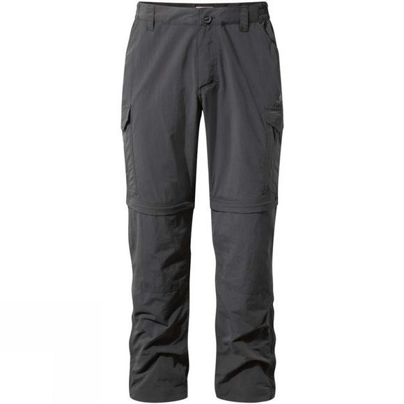 Craghoppers Mens NosiLife Convertible Trousers Black Pepper