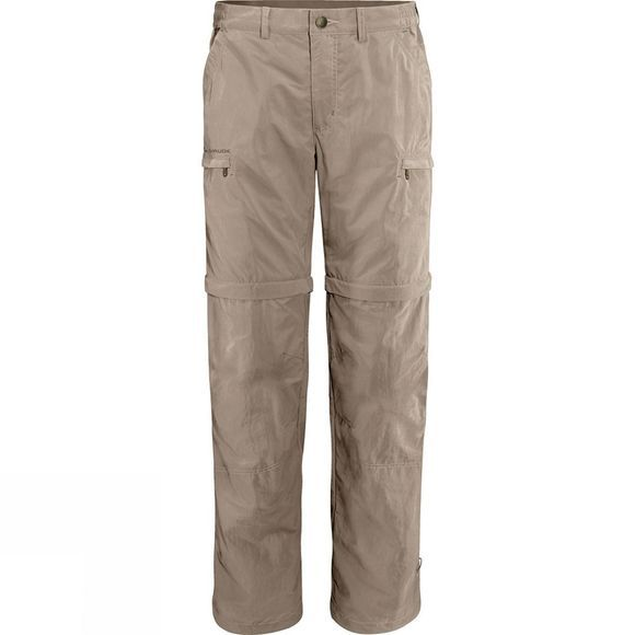 Vaude Mens Farley Zip Off Pants IV Muddy