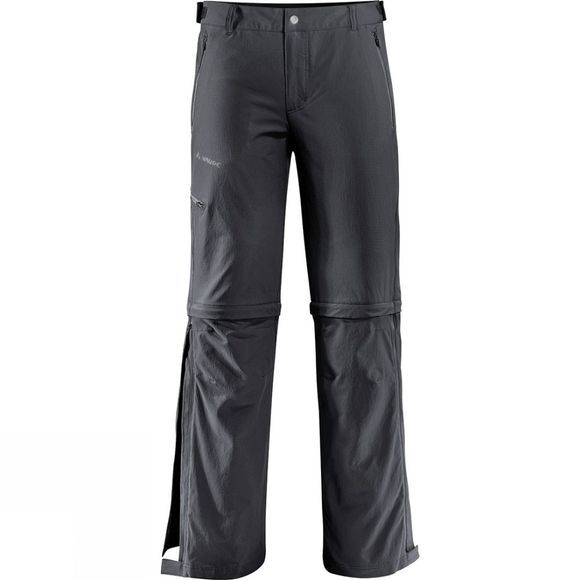 Vaude Mens Farley Stretch T-Zip Pants II Basalt