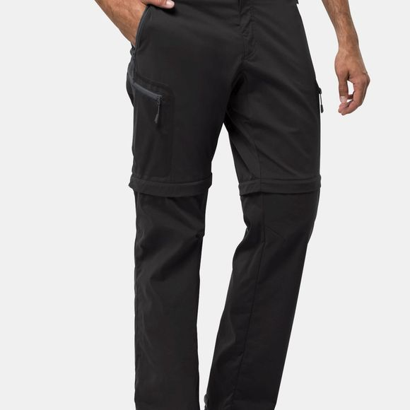 Jack Wolfskin Mens Activate Light Zip Off Trousers Black