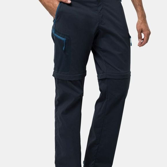Jack Wolfskin Mens Activate Light Zip Off Trousers Night Blue