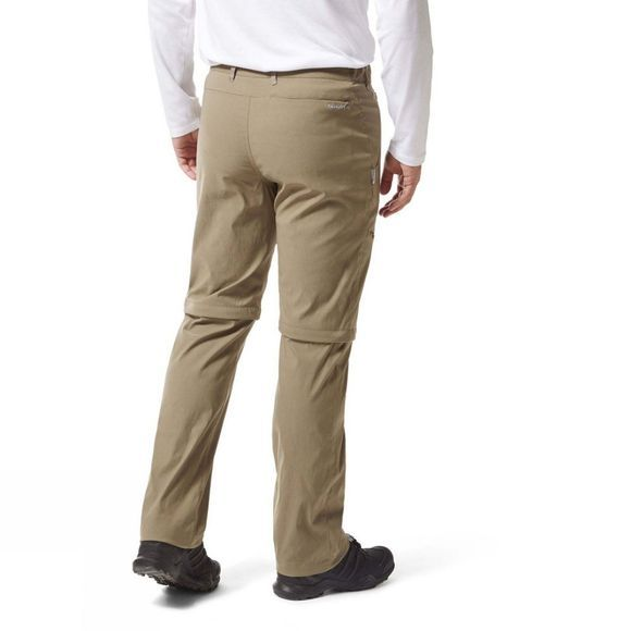 Craghoppers Mens Kiwi Pro II Convertible Trouser Pebble