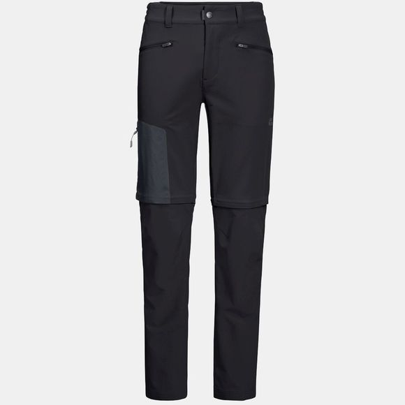 Jack Wolfskin Mens Activate Zip Away Pants Black