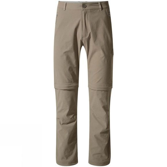 Craghoppers Mens NosiLife Pro Convertible II Trouser Pebble