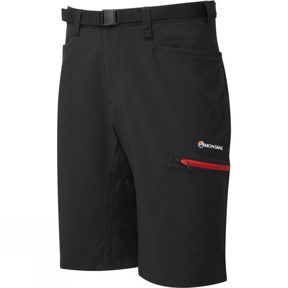 Montane Mens Dyno Stretch Shorts Black/Alpine Red
