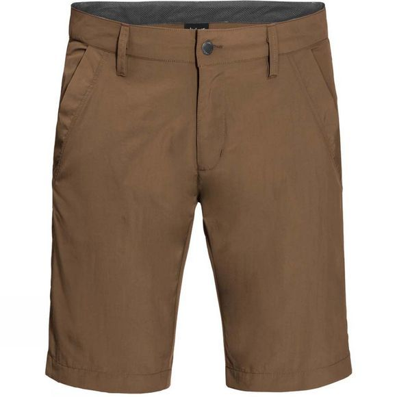 Jack Wolfskin Mens Desert Valley Shorts Bark Brown