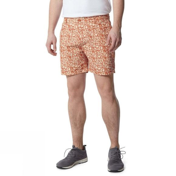 Craghoppers Mens Vinci Shorts Red Ochre Print