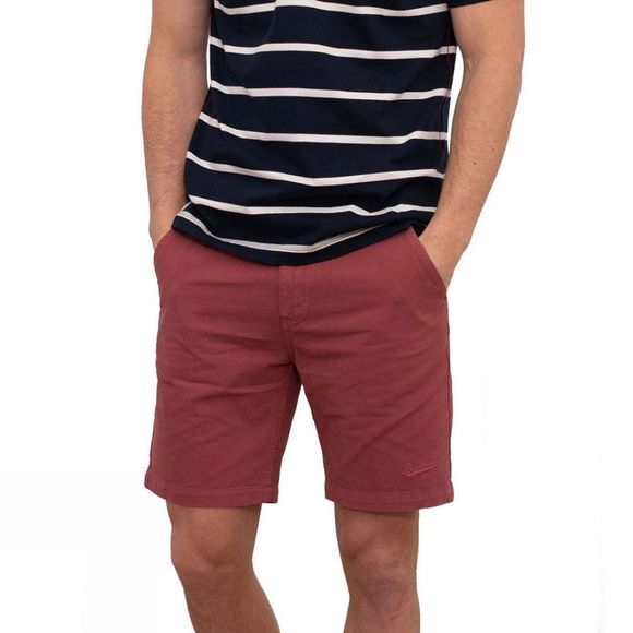 Brakeburn Men's Chino Shorts Washed Red
