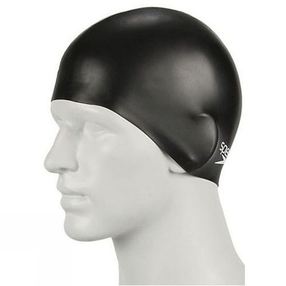 Speedo Plain Moulded Silicone Swimming Cap Black
