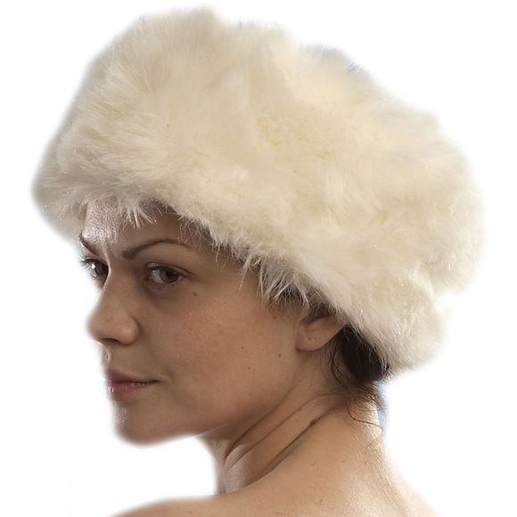 Steiner Winter Fur Trim Cossack Hat Vanilla