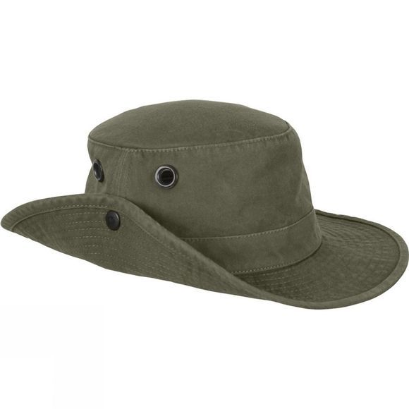 "Tilley Mens Medium Brim ""The Tilley Wanderer"" Hat Olive"