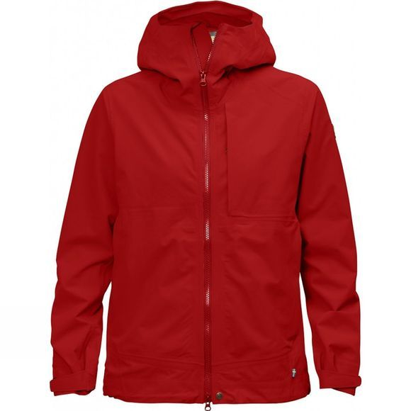 Fjallraven Womens Abisko Eco-Shell Jacket Red