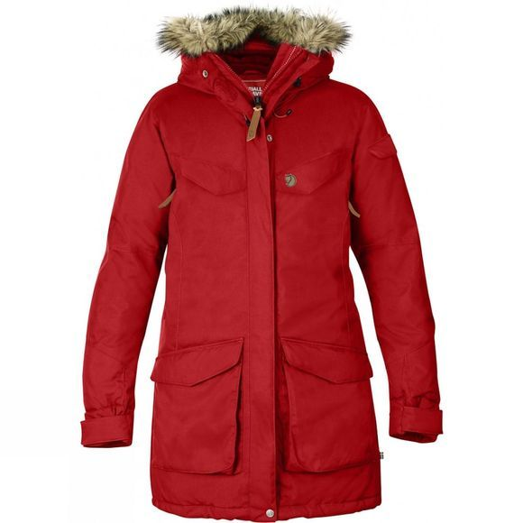 Fjallraven Womens Nuuk Parka Red