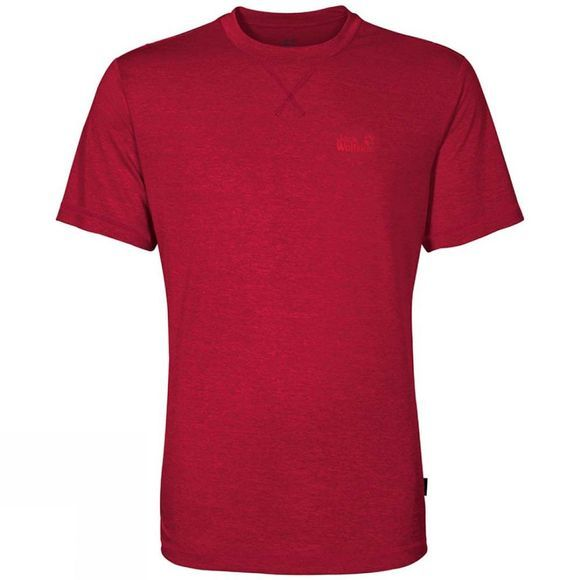 Jack Wolfskin Mens Crosstrail Tee Indian Red