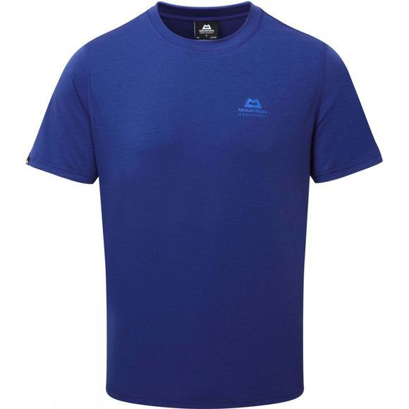 Mountain Equipment Mens Groundup Plain Tee Sodalite Blue