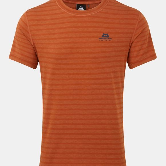 Mountain Equipment Mens Groundup Plain Tee Bracken Stripe