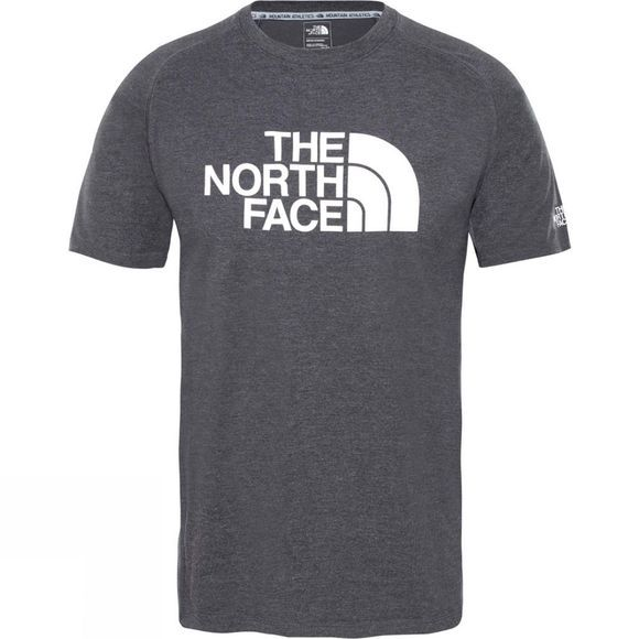 The North Face Mens Wicker Graphic Crew TNF Dark Grey Heather/ High Rise Grey