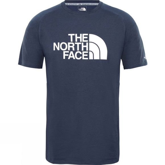 The North Face Mens Wicker Graphic Crew Urban Navy Heather/TNF White