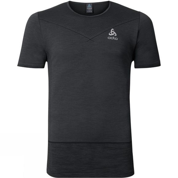 Odlo Mens Seamless Kamilero Crew Top Odlo Graphite Grey