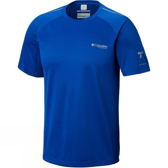 Columbia Mens Titan Trail Short Sleeve Shirt Azul