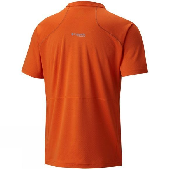 Columbia Mens Titan Trail Short Sleeve Shirt Heatwave