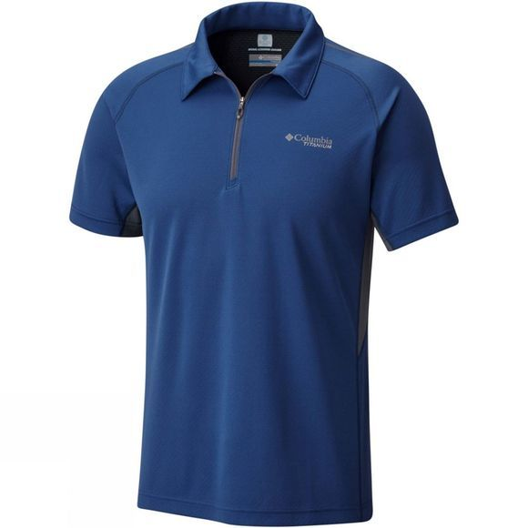 Columbia Mens Titan Trail Polo Carbon/Graphite