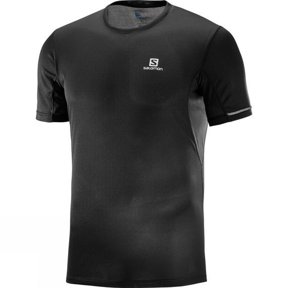 Salomon Mens Agile+ Short Sleeve T-Shirt Black