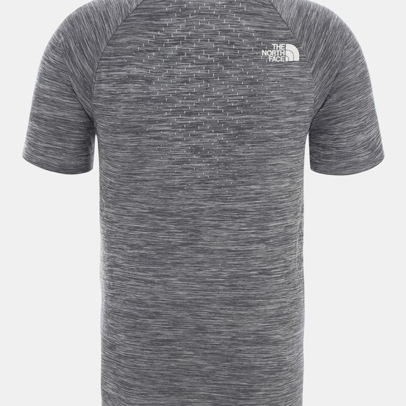 The North Face Mens Impendor Seamless T-Shirt Tnf Black White Heather/Tnf White