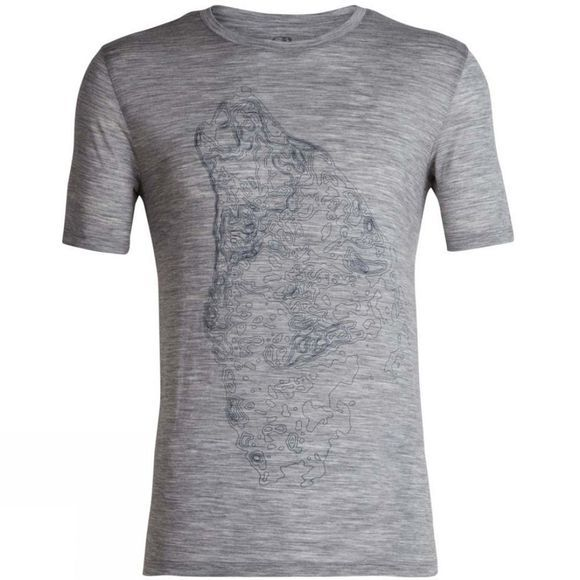 Mens Tech Lite SS Crewe Contour Wolf Top