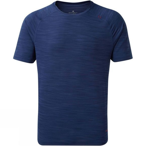 Ronhill Mens Infinity Air-Dry T-Shirt  Midnight Blue/Flame