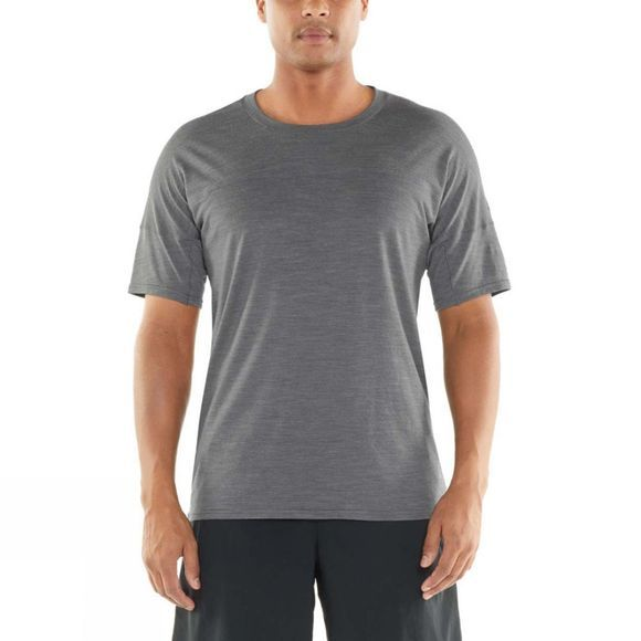 Icebreaker Mens Kinetica Short Sleeve Crewe Top Timberwolf Heather