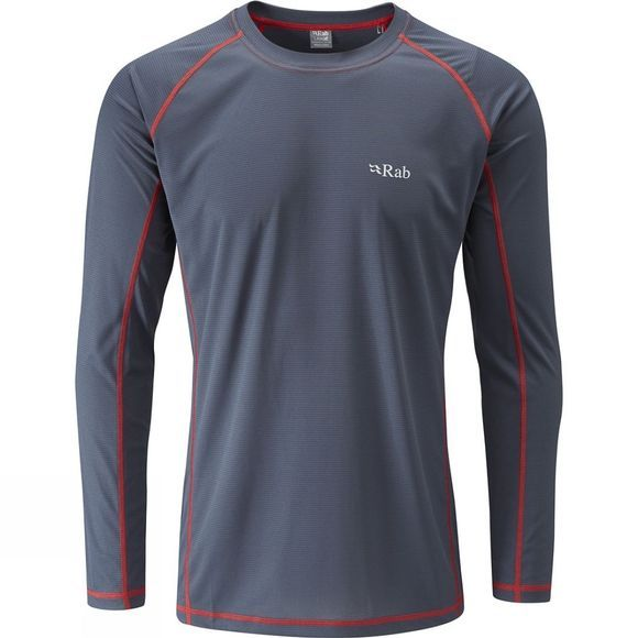 Rab Mens Interval LS Crew Ebony