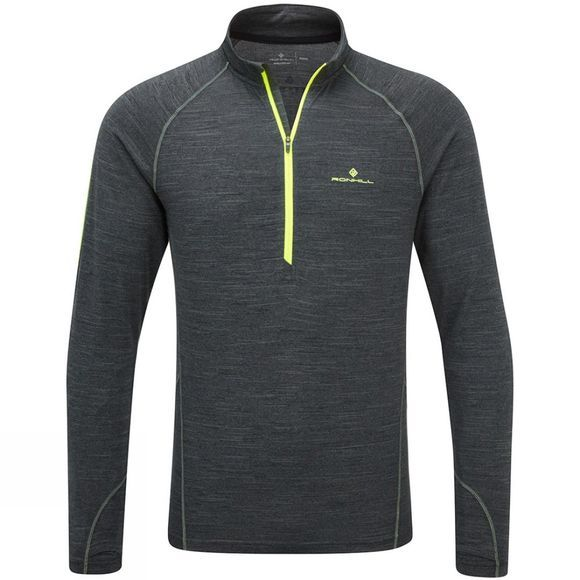 Mens Stride Thermal Long Sleeve Zip Tee